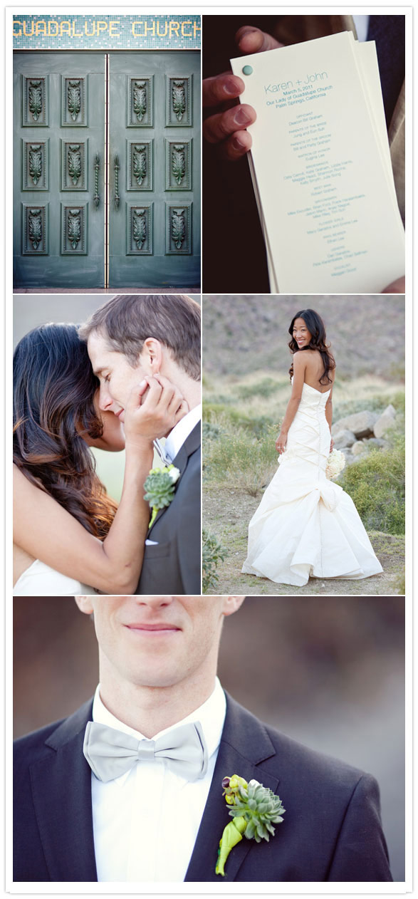 Rustic palm springs wedding