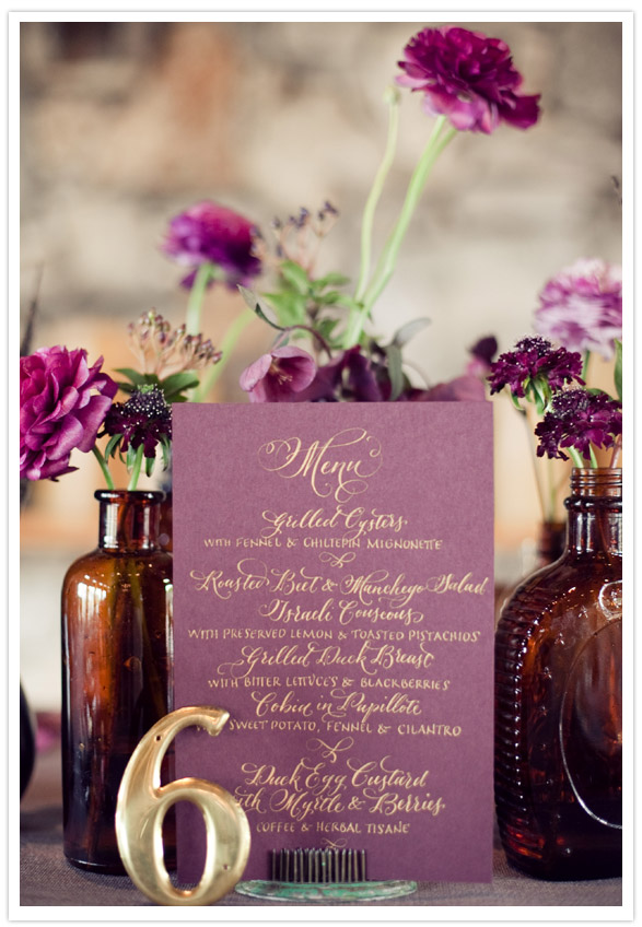 Vintage Plum Wedding Inspiration
