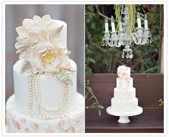 Secret Garden styled inspiration shoot wedding cake