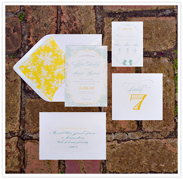 Secret Garden styled inspiration shoot invitations