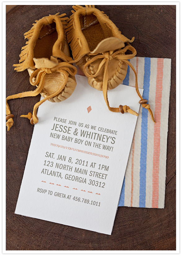 Our Labor of Love modern baby-shower invitations.