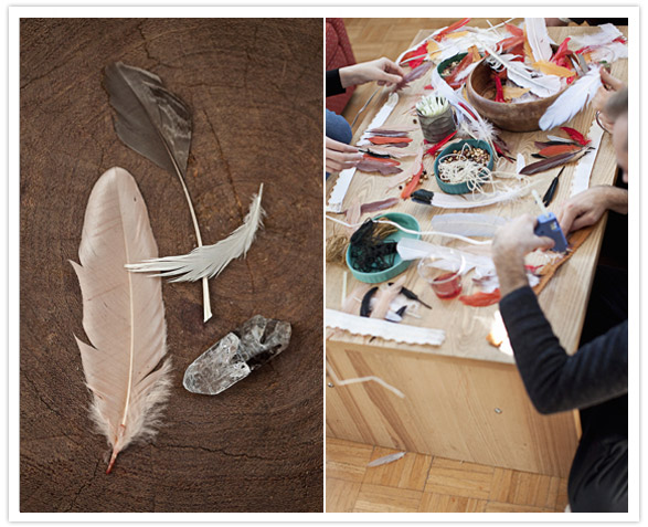 feather craft table