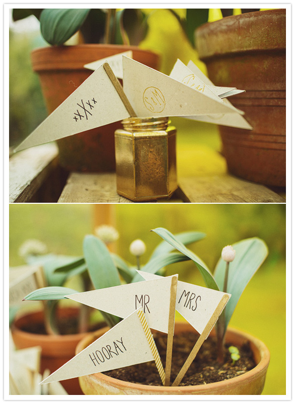 paper flag accents