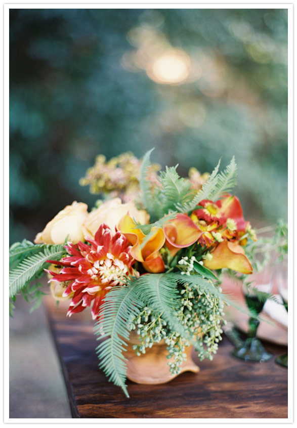 Rustic Fall floral centerpiece