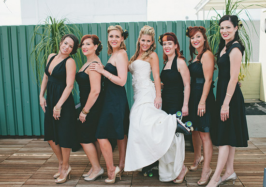 roller derby wedding party