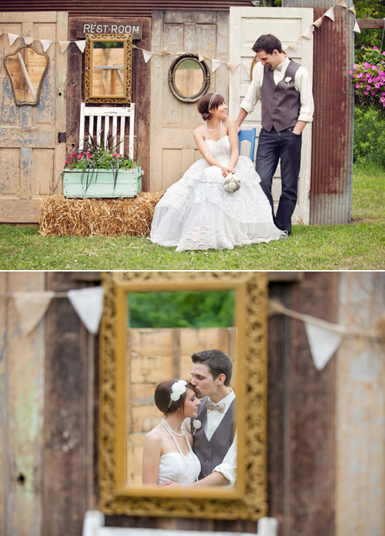Rustic Outdoor Home Wedding Scenery