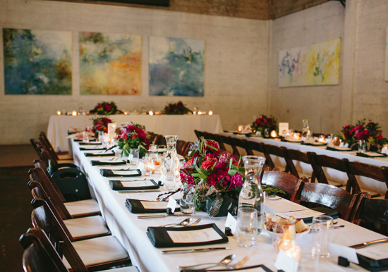 Black And White Table Linens Colorful Fl Centerpieces Photo By Jessica Burke