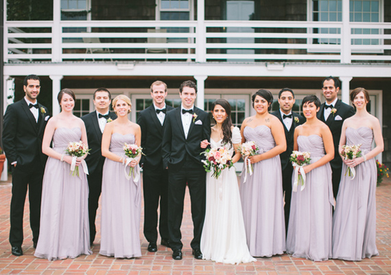 Lavender and black wedding party | Steven Michael Photo | 100 Layer Cake