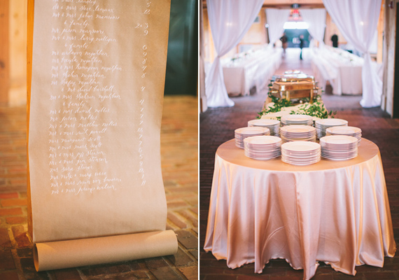 craft paper seating chart | Steven Michael Photo | 100 Layer Cake