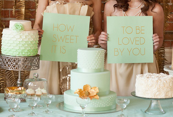 Mint And Gold Wedding Ideas 100 Layer Cake