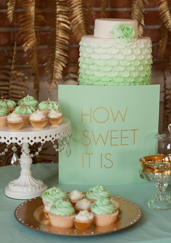 mint green and gold wedding cake mint amp gold wedding ideas wedding inspiration 100 17443