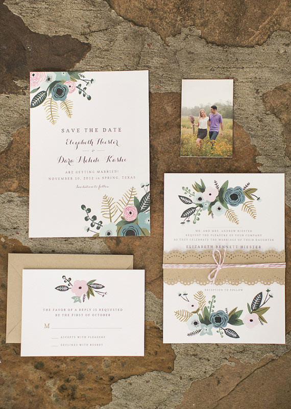 Ilrated Fall Wedding Invitations Photos By Mustard Seed Photography 100 Layer Cake