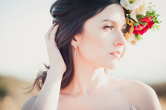 floral bridal crown | photo by Zoom Theory Photography | 100 Layer Cake