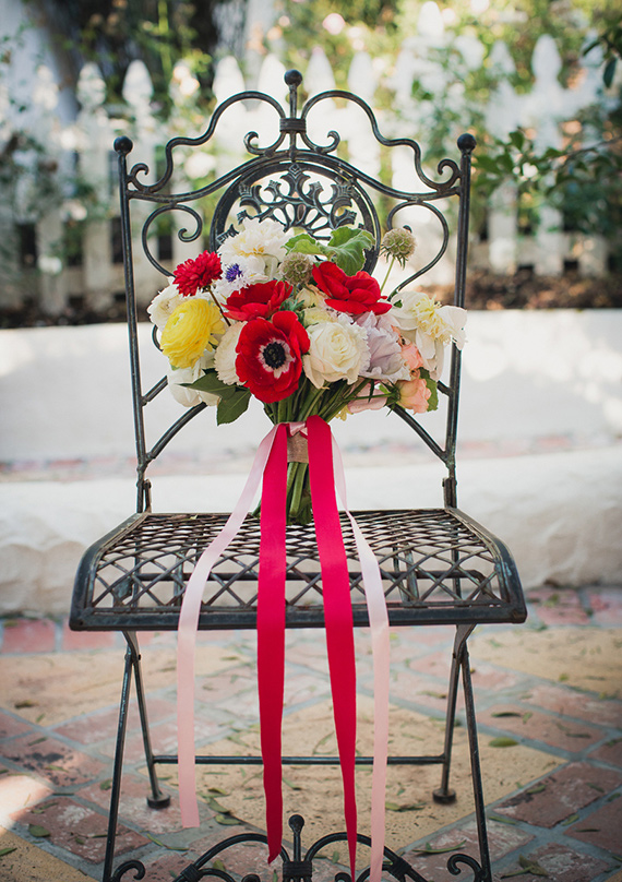 red anemone bridal bouquet   | photo by Zoom Theory Photography | 100 Layer Cake