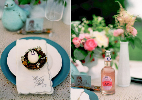 romantic bird themed wedding inspiration | photo by Blue Rose Photography | 100 Layer Cake