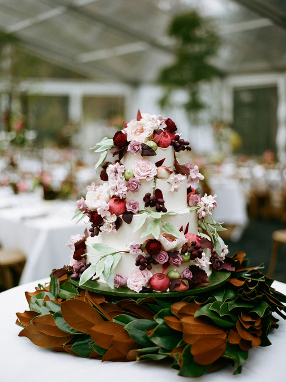 fall wedding cake | photo by Stacy Newgent | 100 Layer Cake