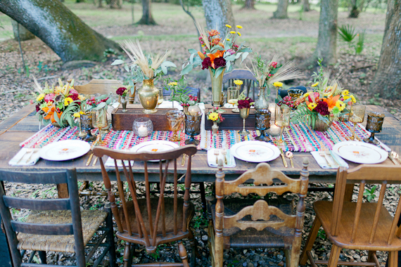 boho wedding table decorations fall bohemian wedding inspiration 100 layer cake 2013