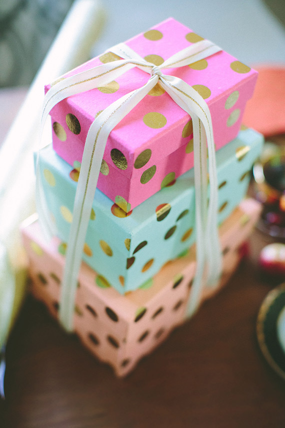100 Layer Cake holiday gift wrap party | Party ...