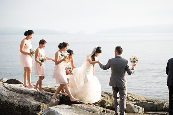 Mint & pink coastal Canadian wedding | Photo by Rebecca Amber Photography | Read more - https://www.100layercake.com/blog/?p=68838