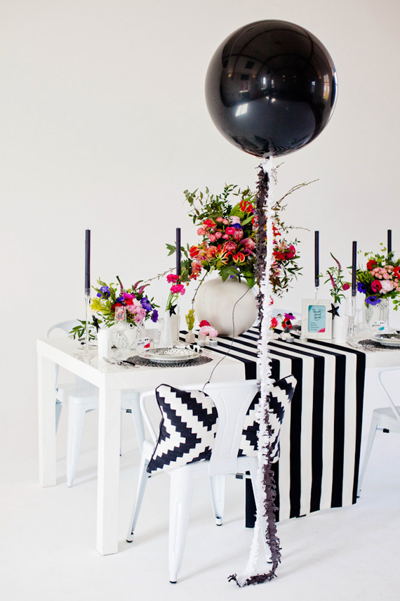Modern black, pink and aqua wedding ideas | Photo by Katy Lunsford Photography | Read more - https://www.100layercake.com/blog/?p=70698