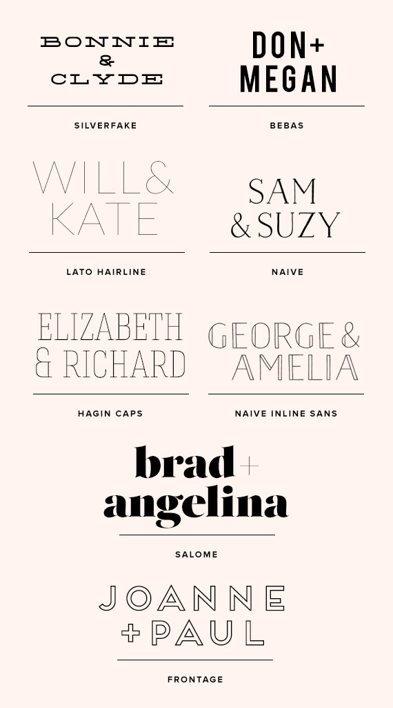 Free Or Inexpensive Wedding Font Ideas 100 Layer Cake