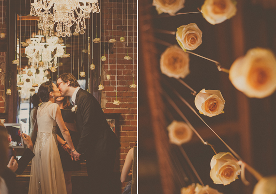 Carondelet House wedding | Photo by Yuna Leonard | Florals by The Little Branch |Read more - https://www.100layercake.com/blog/?p=74488