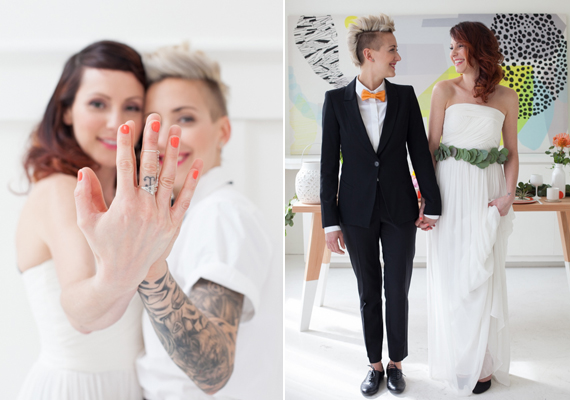 Mid-Century modern elopement inspiration | Rock Paper Square and Lillie Louise Photography | Read more -  https://www.100layercake.com/blog/?p=73793