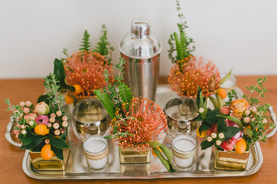 Mid-century modern Palm Springs wedding | Photo by  | Photo by Steve Cowell | Read more  https://www.100layercake.com/blog/?p=74949