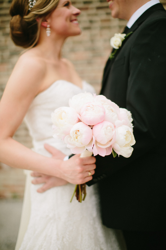 Peony bouquet | Photo by Katie Kett Photography | Read more - https://www.100layercake.com/blog/?p=76330