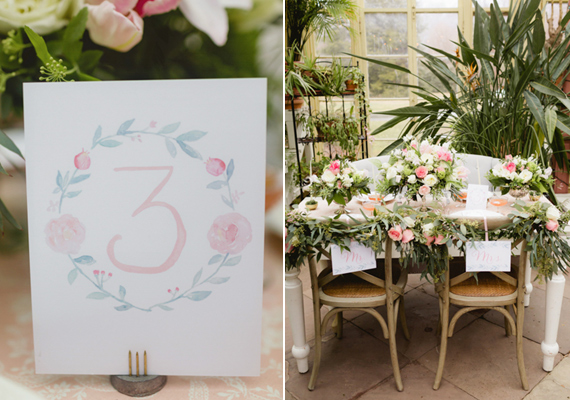 Romantic greenhouse wedding inspiration | Photo by Kate Hubler Photography | Read more - https://www.100layercake.com/blog/?p=75305