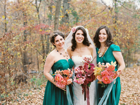 Aqua bridesmaids | Photo by Lisa Berry | Read more - https://www.100layercake.com/blog/?p=76472