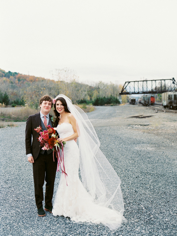 Industrial, modern Hudson Valley fall wedding | Photo by Lisa Berry | Read more - https://www.100layercake.com/blog/?p=76472