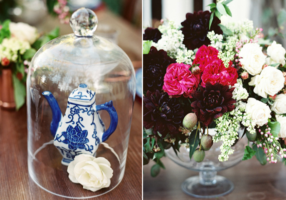 Copper and cobalt wedding inspiration   Photo by  Lavender and Twine   Read more - https://www.100layercake.com/blog/?p=77687