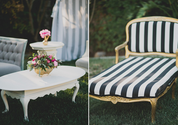 Parisian-themed garden engagement party | Photo by Katie Pritchard Photo | Read more - https://www.100layercake.com/blog/?p=76900