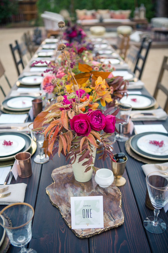 Korakia dinner party | Photos by The Wedding Artist Collective | Read more - https://www.100layercake.com/blog/?p=81381
