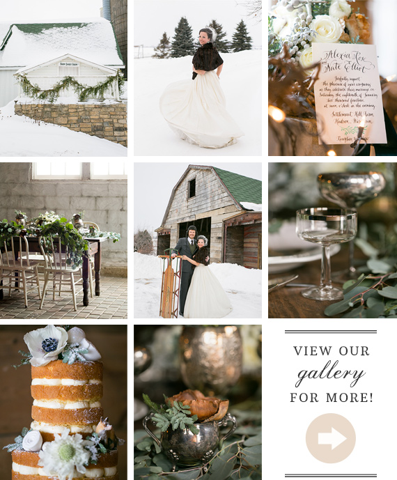 Snowy winter wedding inspiration | Photo by https://www.100layercake.com/blog/?p=82785