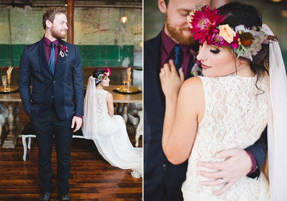 Rich Plum And Navy Wedding Inspiration Photo By Izzy Hudgins Photograpny Read More