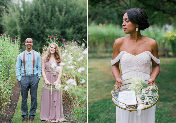 Intimate pastel wedding inspiration  | Photo by Carrie Coleman Photography | Read more -  https://www.100layercake.com/blog/?p=84115