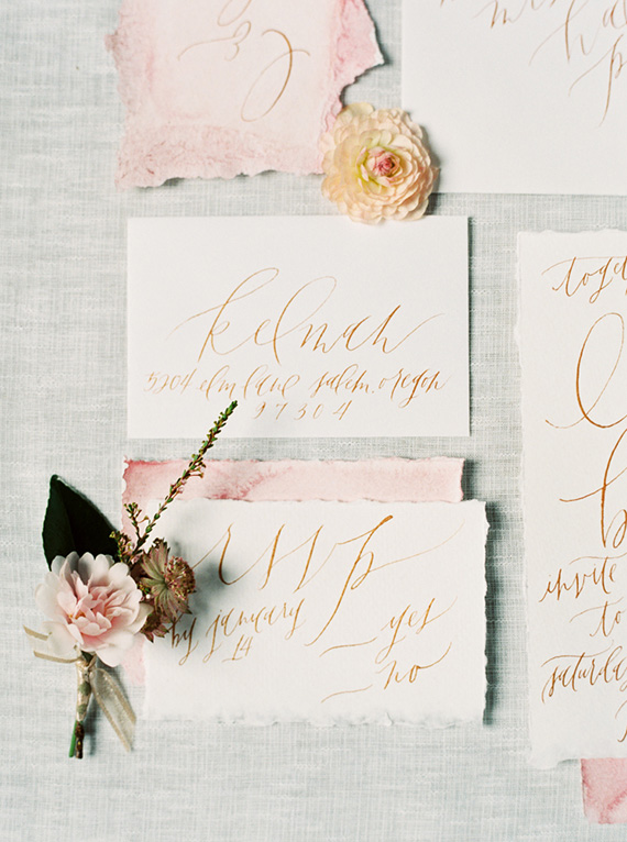 Valentine wedding inspiration | Photo by Maria Lamb | Read more - https://www.100layercake.com/blog/?p=85817