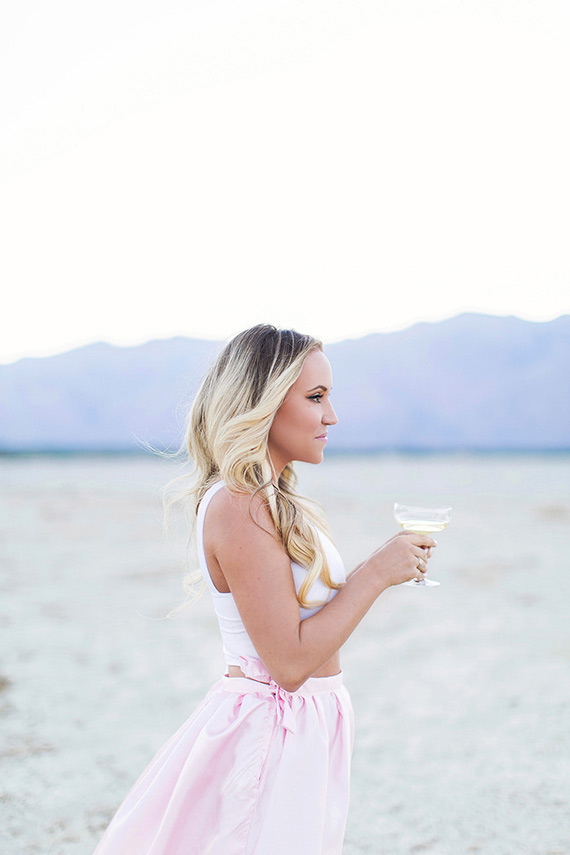 Modern Palm Springs Engagement | Photo by Alyssa Marie Photography | 100 Layer Cake