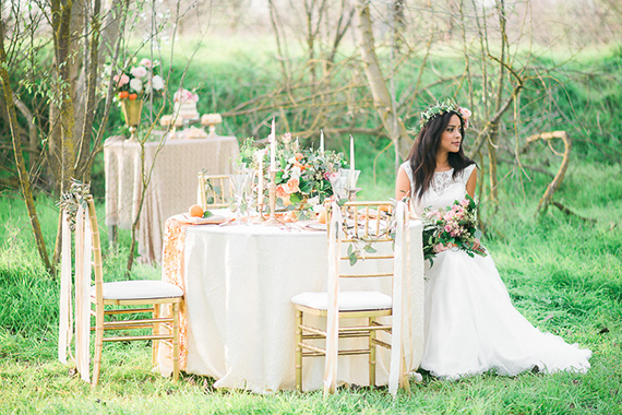 Pastel And Gold Wedding Ideas Photo By Peppermint Plum Photography Read More Http