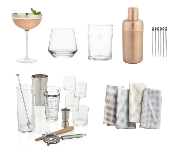 cocktail supplies from crate and barrel
