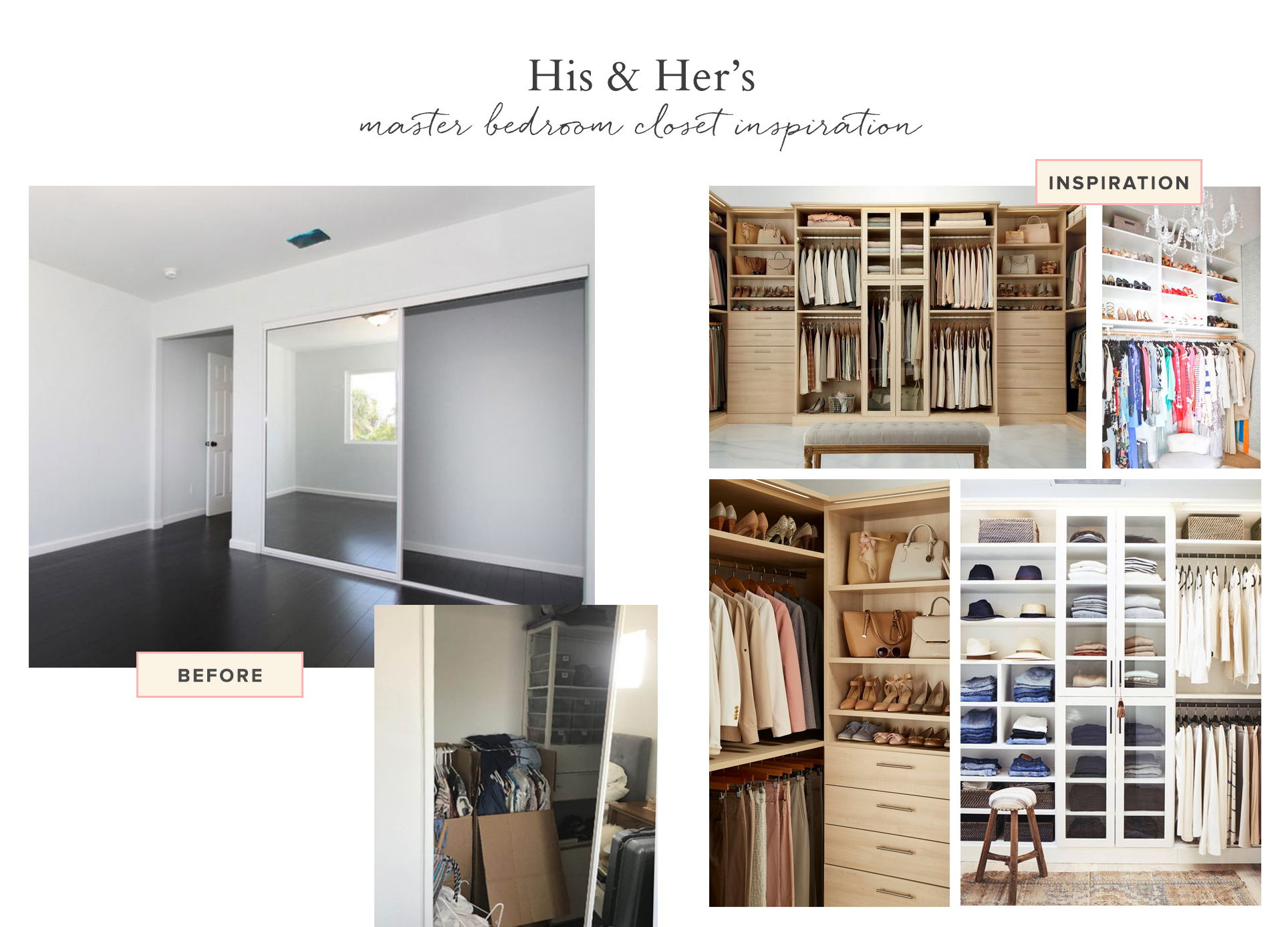 his and hers master closet