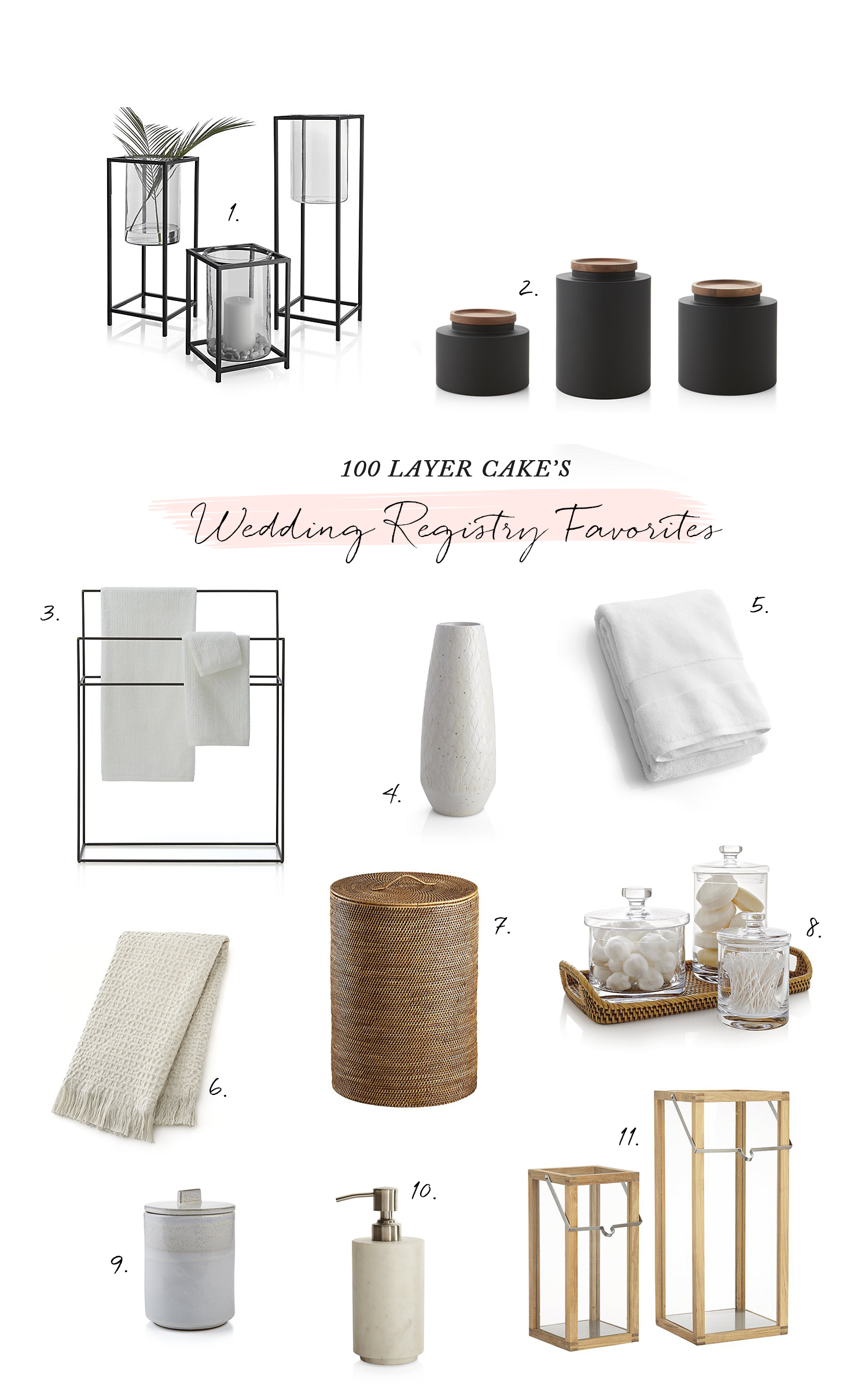 Modern Bath Registry with Crate and Barrel