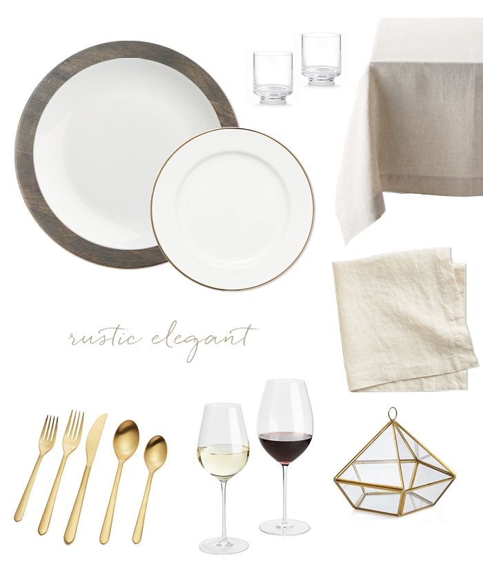 One plate six ways with Crate and Barrel