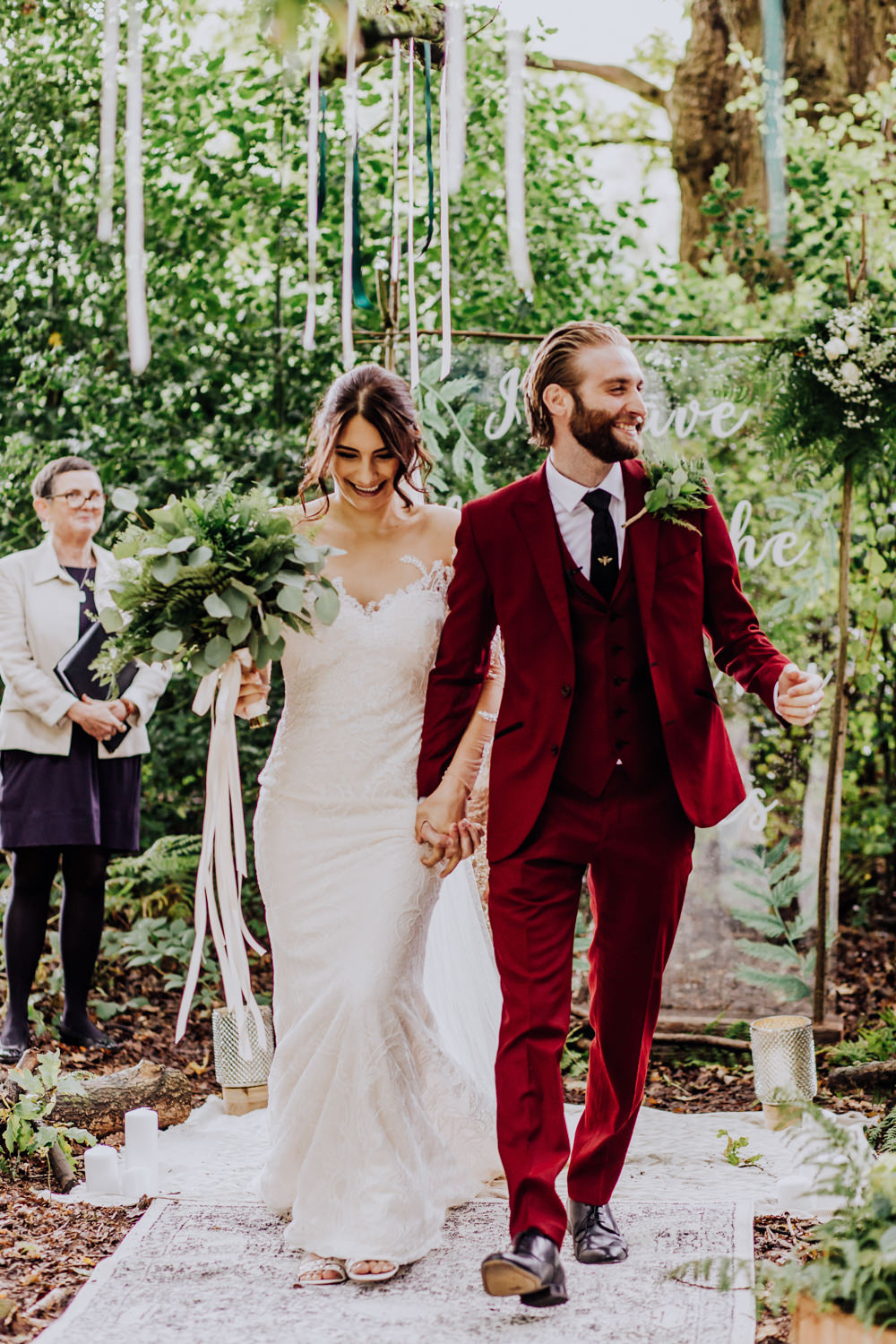 Burgundy groom | Clara Cooper Photography
