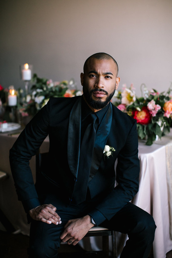 All black groom's fashion | 100 Layer Cake