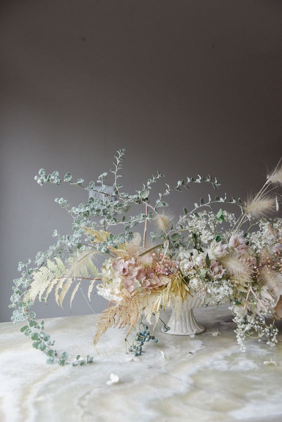 Delicate dried florals from Sarah Winward