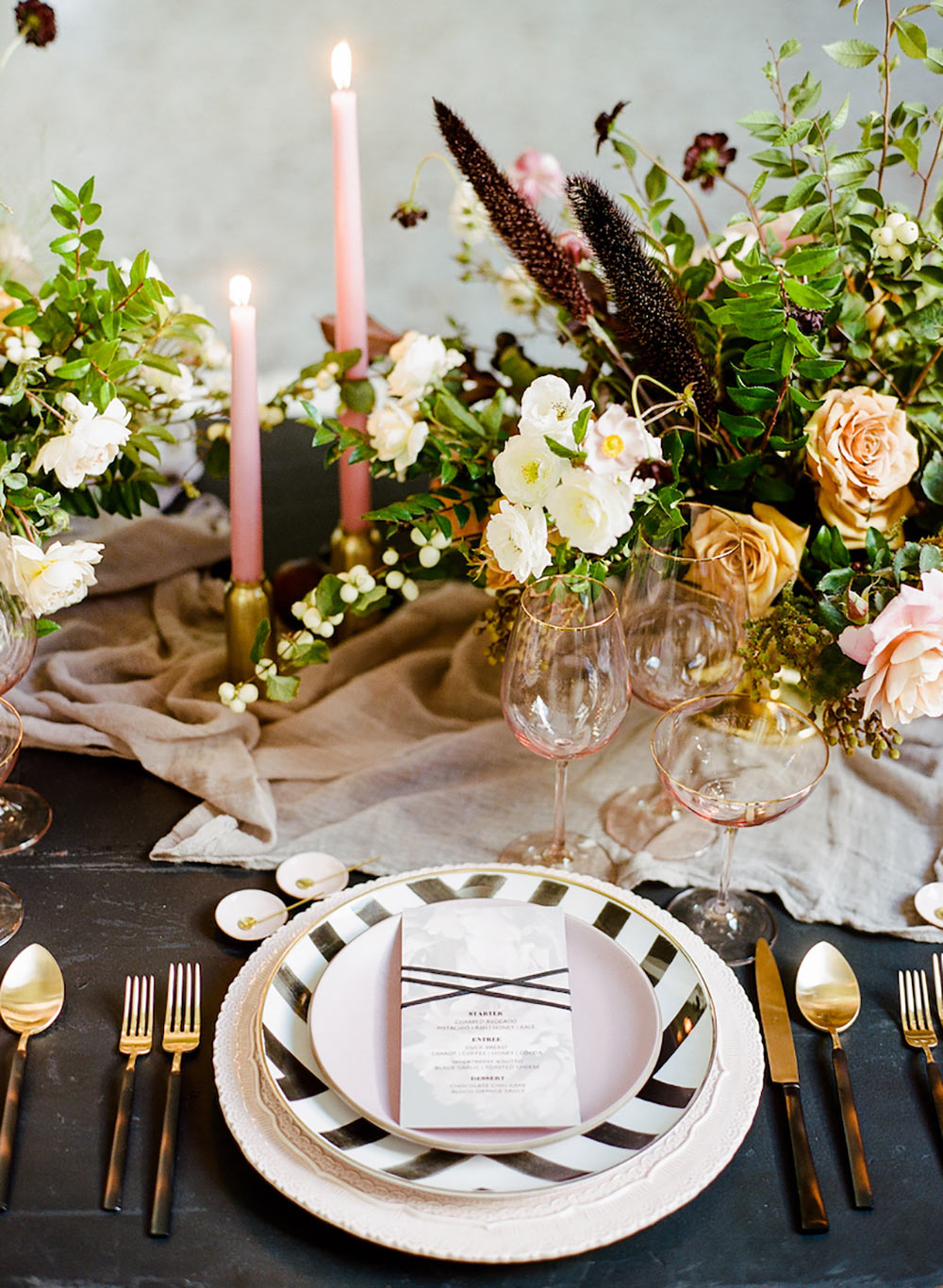 setting a table