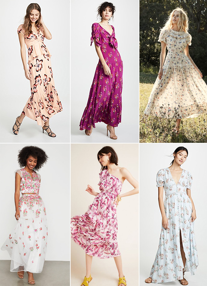Floral bridesmaid dresses for 2019 weddings